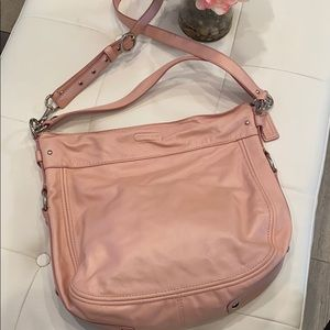 Coach leather Zoe hobo shoulder bag and crossbody